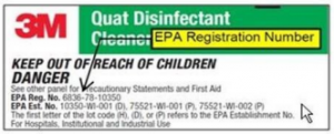Disinfectants EPA registered