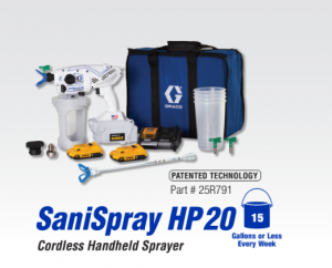 Graco SaniSpray Disinfecting Sanitizing against COVID-19